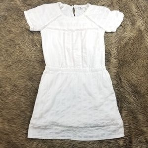 Madewell White Lined Classy Casual Dress Size 0